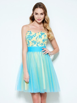 Beautiful Sweetheart Appliques Short Homecoming Dress & Homecoming Dresses under 500