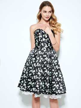 Modern Sweetheart Hollow Floral Print Homecoming Dress & amazing Homecoming Dresses