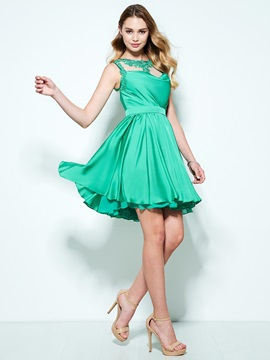 Charming Straps Appliques Draped Short Homecoming Dress & attractive Homecoming Dresses