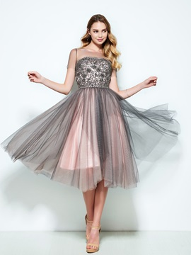 Scoop Short Sleeves Appliques Beading Homecoming Dress & Homecoming Dresses 2012