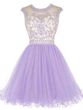 Scoop Neck Sequins Beading Short Backless Homecoming Dress & colored Homecoming Dresses