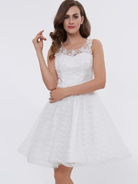 Scoop Neck Appliques Short Homecoming Dress & attractive Homecoming Dresses