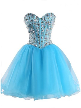 Delicate Sweetheart Beading Lace-Up Homecoming Dress & vintage Homecoming Dresses