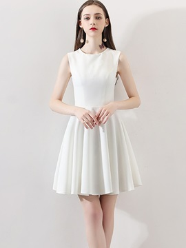 A-Line Jewel Sleeveless Mini Homecoming Dress