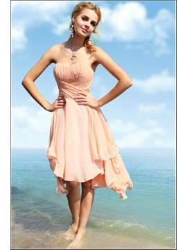 Cheap A-Line Sweetheart Asymmetric Ruched Chiffion Homecoming Dress & discount Homecoming Dresses