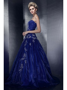 Amazing A-Line Sweetheart Embroidery Sequins Lace-up Long Dasha's Evening Dress