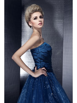 Classic A-Line Floor-Length Strapless Lace-up Sequins Dasha's Ball Gown/Quinceanera Dress