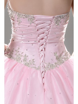 Sweetheart Appliques Quinceanera Dress With Jacket/Shawl