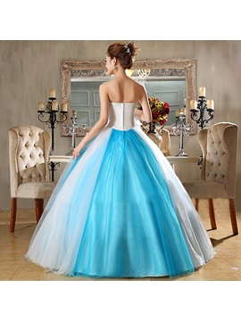 Beauteous Sweetheart Flowers Appliques A-Line Floor-Length Quinceanera Dress