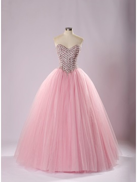 Charming Beaded Sweetheart Sequins Lace-up Quinceanera Dress