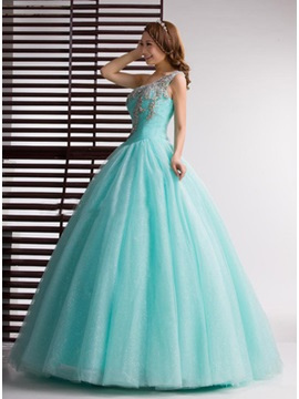 One-Shoulder Ball Gown Beading Quinceanera Dress