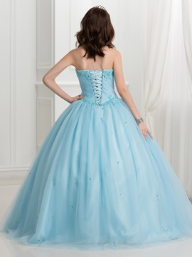 Appliques Beaded Sweetheart Quinceanera Dress