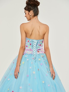 Bowknot Sweetheart Appliques Quinceanera Dress