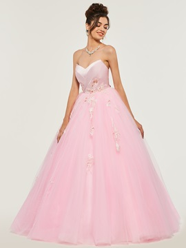 Sweetheart Appliques Lace Quinceanera Dress