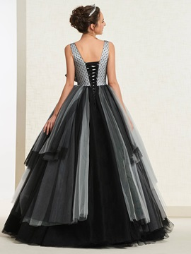 Sleeveless V-Neck Ball Gown Floor-Length Quinceanera Dress 2019