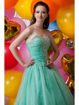 Graceful A-Line Floor-Length Appliques Sequins Lace-up Maria Anastasia's Quinceanera Dress