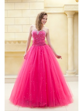 Fantastic Sweetheart A-Line Beading Lace-up Ela's Long Prom/Quinceanera Dress