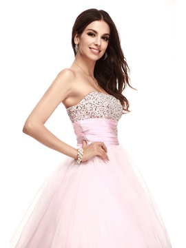 Brilliant Strapless Sequins Beading Empire Waist Taline's Quinceanera Dress