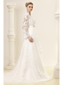 Gorgeous A-Line Strapless Lace Dasha's Wedding Dress With Jacket