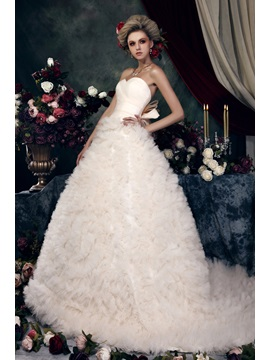 Gorgeous A-line Ruched Sweetheart Floor-Length Color Dasha's Wedding Dress