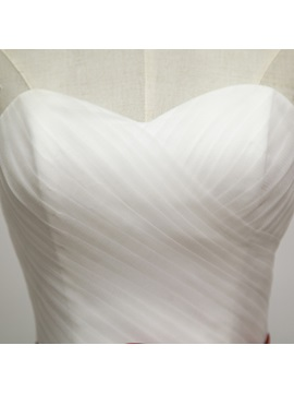 Floor Length Strapless Sweetheart A-Line Wedding Dress with Sash