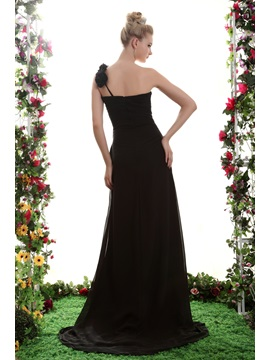 A-Line One-Shoulder Floor-Length Yana's Bridesmaid Dress