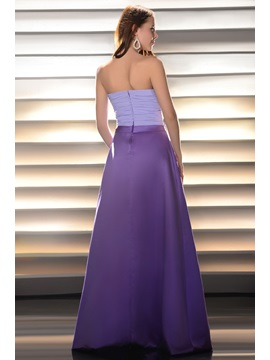 Pretty A-Line Strapless Ruched Sashes/Ribbons Floor-length Bridesmaid Dress