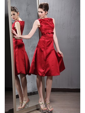 A-Line Scoop Neckline Knee-length Patricia