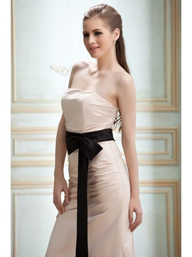 Elegant Sheath Strapless Sashes/Ribbons Floor-Length Nadya's Bridesmaid Dress