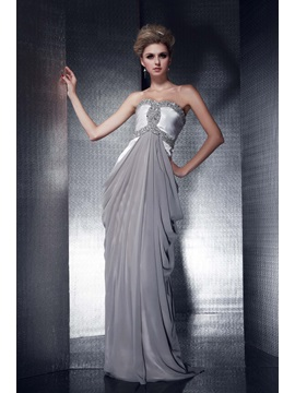 Sweetheart A-Line Beadings Long Evening Dress