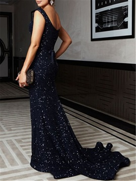 Sparkling Straps Sleeveless Sequin Mermaid Evening Dress