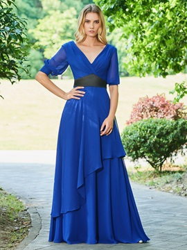 Evening Dress with Half Sleeves