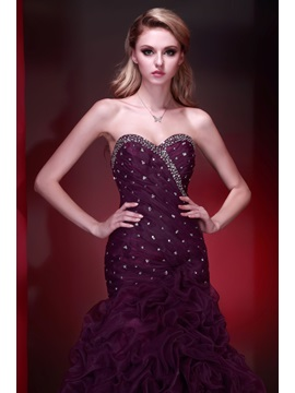 Glamorous Mermaid Sweetheart Pick-ups Sequins Dasha's Evening Dress