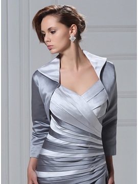 3/4 Sleeve Length Silver Length Jacket