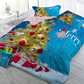 Christmas Tree Image 4 Piece Bedding Sets