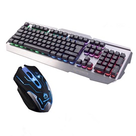 Wired USB Interface 109 Key Metal Surface Mechanical Keyboard & Mouse Combo