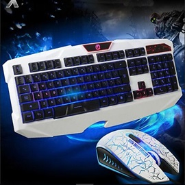 Gaming Wired Keyboard Mouse Headband Multimedia Optical Professional Waterproof 4 Pieces a Set