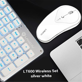High Quality LT600 Rechargeable Luminous Mute Wireless Gaming Keyboard Mouse Kit