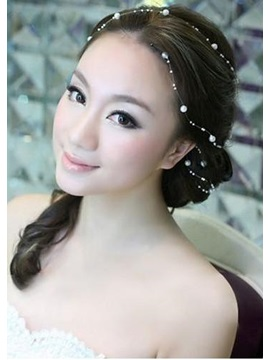 130cm Length Stylish Bride's Headflower With Pearl