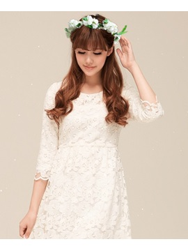 2014 New Rose Garland Bride Headwear With Jacket/Shawl
