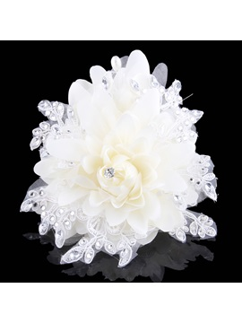 Ladylike Wedding Dress Accessories Rhinestone Head Flowers Wedding Hairflower