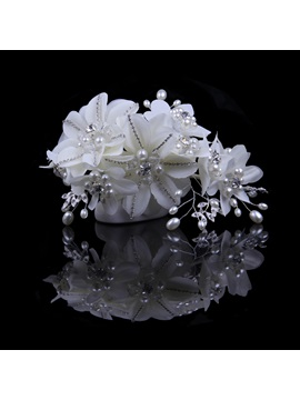 Ladylike Tidebuy Pearl Flower High-Grade Manual Bridal Headpiece