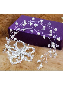 Handmade Beaded Flowers Bride Headwear Wedding Dress Accessories