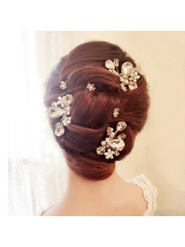 White Crystal Bridal Hair Comb