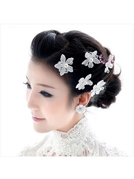 Flower Pearls Wedding Head Flower