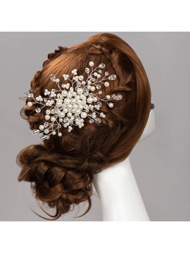 Pearls Flowers Wedding Hair Flower