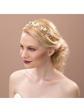 Pearl Rhinestone Alloy Wedding Headpiece
