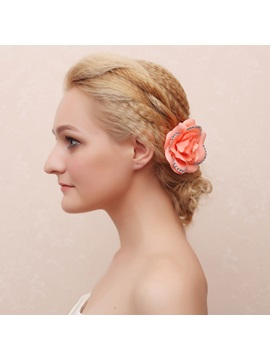 Vogue Diamond Decorated Flower Bridal Hair Claw