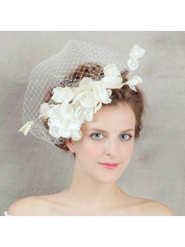 Elegant Bridal Hair Flower Wedding Veil
