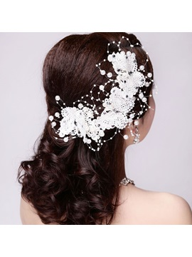 Cheap White Wedding Hair Flowers